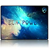 ECHTPower Tapis de Souris Gaming Gamer Mousepad Dimension 350*250*3mm, Base en Caoutchouc Antidérapant Compatible Souris Gaming & Laser & Optique & Verticale, Conception Confortable Surface Lisse pour Bureau d'ordinateur PC