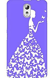 AMEZ designer printed 3d premium high quality back case cover for Lenovo Vibe P1M (very light purple white girl princess)