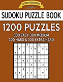 Sudoku Puzzle Book, 1,200 Puzzles - 300 EASY, 300 MEDIUM, 300 HARD and 300 EXTRA HARD: Improve Your Game With This Four Level Book: Volume 39 (Sudoku Puzzle Books Series 2)