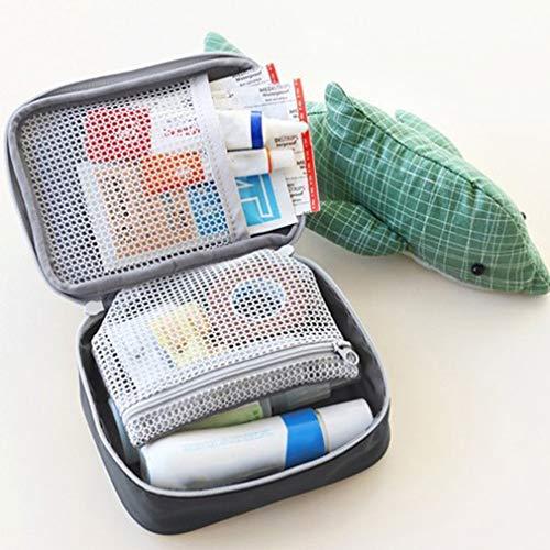 51d8C9z2lSL - LeobooseMini Bolsa de botiquín de primeros auxilios para viaje al aire libre Paquete de medicina portátil Bolsas de equipo de emergencia Bolsa de almacenamiento de pastillas Pequeño organizador