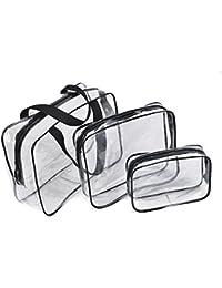 Bolsas de Aseo Transparente Neceser PVC Impermeable Mujer Bolsa de  Cosmético Organizador de Viaje ... 281dc9df17bf3