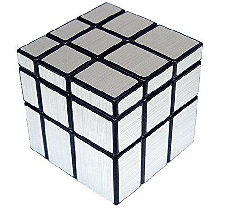 Topways® Shengshou 3x3x3 mágico cubo Intellengence Ninos Educacion Herramientas Magic cube Juego de Puzzle cube 57mm (Mirror plata)