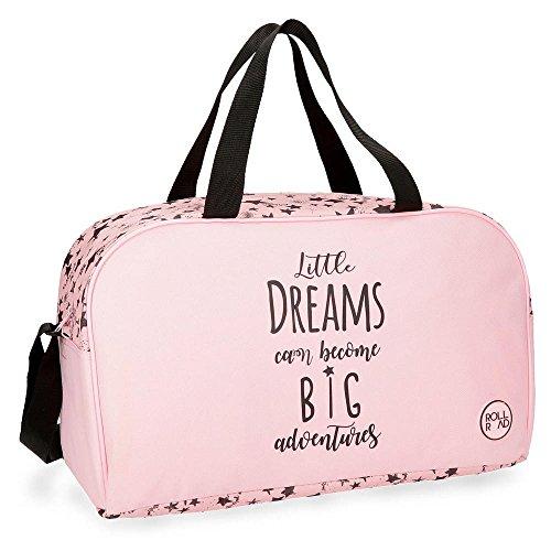 Roll Road Dreams Pink Bolsa de Viaje, 45 cm, 23.4 Litros, Rosa
