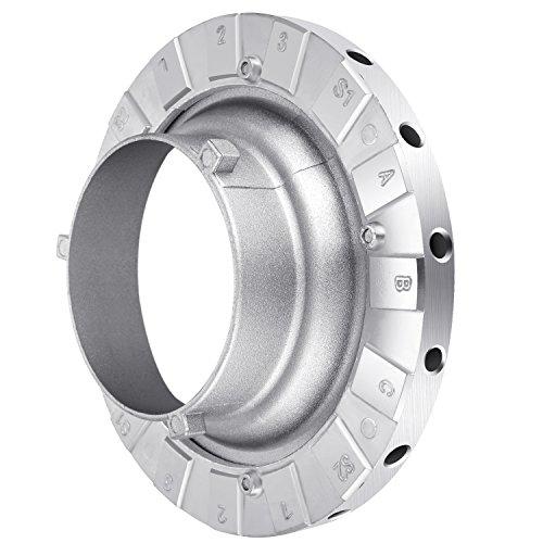 Neewer Metall Bowens Speed Ring Speedring Adapter für Bowens Softbox für Speedlite Studio Blitzlicht Monolight Speed Ring-softbox