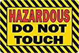 3in x 2in Hazardous Do Not Touch Magnet Vinyl Magnetic Caution Safety Sign by StickerTalk®