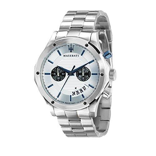 MASERATI Hommes Chronographe Quartz Montre avec Bracelet en Acier Inoxydable R8873627005