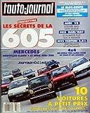 AUTO JOURNAL (L') [No 9] du 15/05/1989 - SOMMAIRE - ACTUALITES - A J INFOS - KITE -...