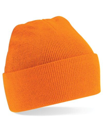 Beechfield Turn-up Beanie Casquette de Baseball, (Orange 000), Taille Unique Femme