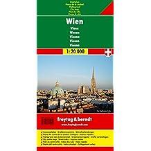 Wien, Stadtplan 1:20.000, Freytag Berndt Stadtpläne: Stadskaart klein 1:20 000