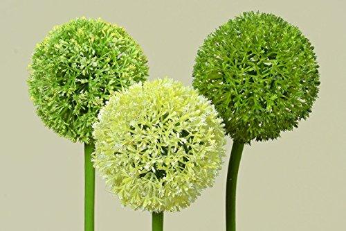 Kunstblume Allium aus Kunststoff Dekoblume Tischdeko, 3er Set