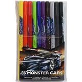Monster Cars Double-Ended Felt Tip Pens