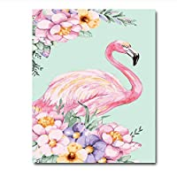 Mulmf Canvas Painting by Numbers Flamingo Animal Coloring by Numbers Colorful Animals Home Decoration- 40X60Cm No Frame
