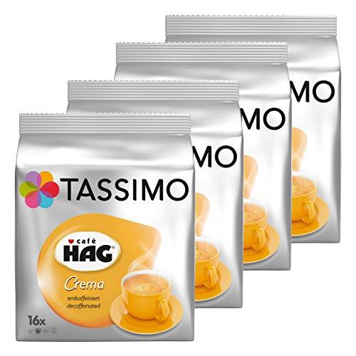 Tassimo Caffè Hag Crema entkoff einiert, Capsule Caffè, caffeina libero caffè, caffè tostato, 64T-Discs