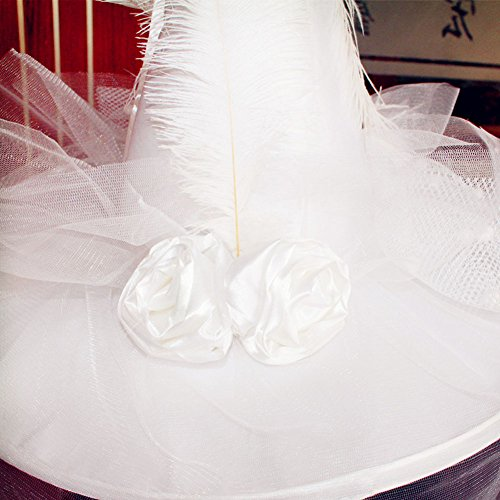 lett/Weiß Frauen Hexe Hat für Kostüm Accessoire Scary Party Dekoration weiß (Scary Halloween-kostüme Für Frauen)