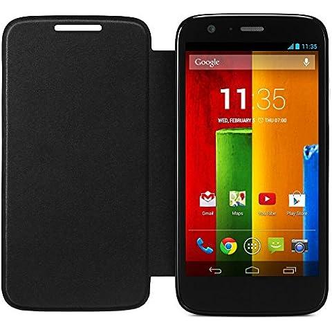 Motorola - Funda Flip oficial para Motorola Moto G, Negro