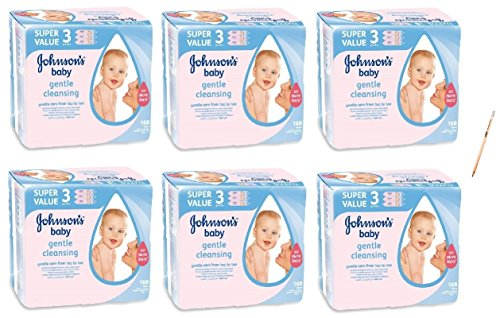 irpot-6-conf-salviettine-johnsons-baby-168-pz-pulizia-igiene-bambini