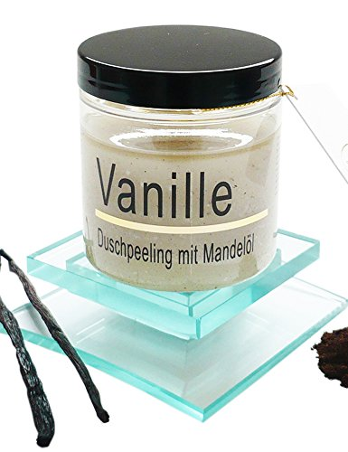Körperpeeling Salz Vanille Body Scrub mit Mandelöl, 320 g