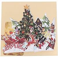 Dabixx Handmade 3D Pop Up Tarjetas navideñas de felicitación Feliz Navidad Fiesta Aniversario Regalo 15x17cm / 5.91x6.69