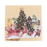 JAGENIE Vatertagskarte, Muttertagskarte, 3D Pop-up-Karte, 3D-Grußkarte, Dank-Karte, Geburtstagskarte, Geburtstagskarte, Valentinstag Geschenkkarte,Weihnachtsfeier 15x17CM