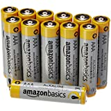 AmazonBasics Lot de 12 piles alcalines Type AAA 1,5 V 1340 mAh (design variable)