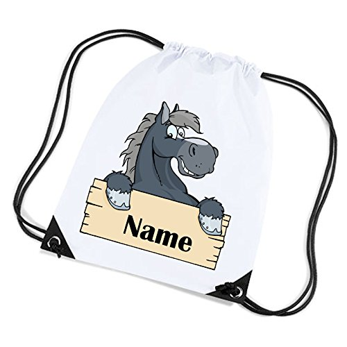 51d8I3KbIgL BEST BUY UK #1Personalise This School Swimming Gym PE Bag Equestrian Horse Design With A Name Of Your Choice price Reviews uk