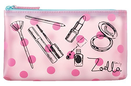 Zoella Beauty Tutti Fruity Beauty Pouch - For cosmetics, Makeup bag, coins, hand purse and clutch by Zoella Beauty