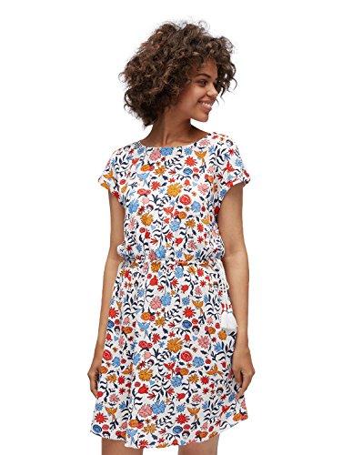 TOM TAILOR Denim Frauen Kleider & Jumpsuits Tunika-Kleid mit Floralem Muster