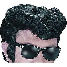 Hombre Teddy Boy Elvis Rock & Roll sintético Fancy Party 1950s grasa Greaser peluca