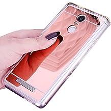 LXHGrowH Funda Espejo Silicona Gel TPU para Xiaomi Redmi Note 3 / Redmi Note 3 Pro