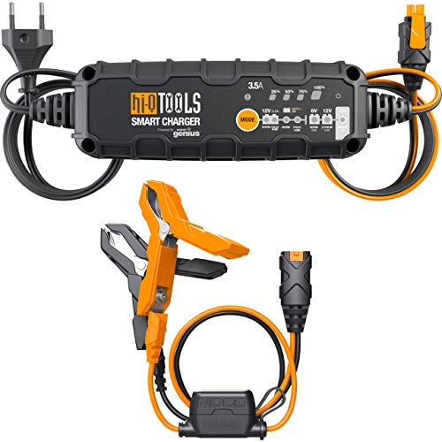 Hi-Q Tools Ladegerät Motorradbatterie Batterieladegerät PM3500, 6/12V 3,5A, für Blei-Säure+Lithium, Multipurpose, Ganzjährig, Kunststoff