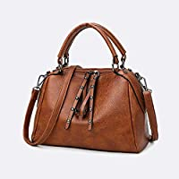 DZTIZI Handbags Women Bags, Leather Messenger Bags, Large-capacity Zipper Handbag, For Daily Travel And Gift, Brown