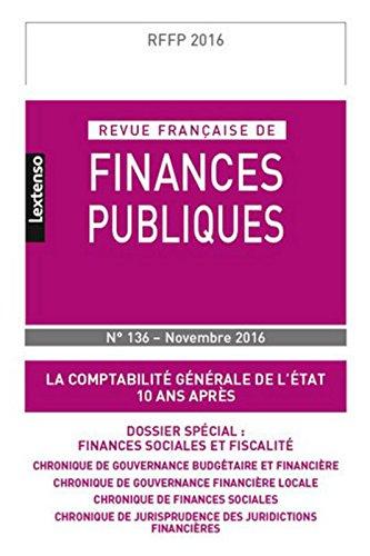 RFFP - Revue Française de Finances Publiques N°136-2016