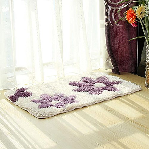 Non-slip carpet LL-Rutschfeste Badezimmer-Matte, Badematte Badezimmer Dusche Teppiche Teppich, 60 * 90, Purple - Purple Shag Teppich