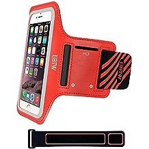 EOTW Brazalete deportivo iphone 6 6s de Neopreno Antideslizante con un bolsillo para tarjetas, llaves, dinero y auriculares, Brazalete movil Ajustable & Prueba de Sudor perfecto para Running Fútbol Pesca Gimnasio Bicicleta Waveboard.