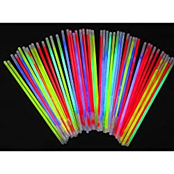Glow In The Dark Sticks/Bands (Pack Of 100)