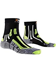 X-Socks Funktionssocken Sky Run Two - Calcetines, color negro (black/green lime/moulinè), talla 39/41