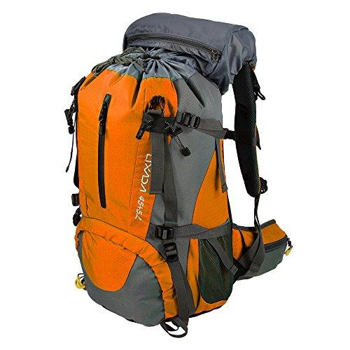 Lixada 50L Trekkingrucksack Wanderrucksack Reiserucksack Rucksack Mit Regenabdeckung Für Outdoor Orange