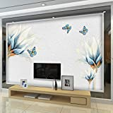 YUANLINGWEI Wandbild Tapete 3D Tapete Elegant Floral Blossom Wandbild Pflanzenmuster Tapeten Große 3D Tapete Wand Für Wohnzimmer Schlafzimmer Art Decor,210Cm (H) X 290Cm (W)
