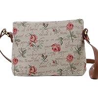 Borsetta donna Signare alla moda in tessuto stile arazzo a spalla borsa messenger a tracolla
