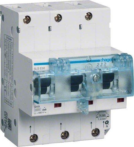 Hager HTN350E 3P 4.5Module (S) Short Circuit-kurz (50Schaltungen, 85mm, 81mm, 110mm,-25-55°C,-25-80°C) 25 Mm-modul