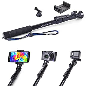 XCSOURCE® Professional Adjustable Self-lock Telescopic Extendable Pole Self Portrait Selfie Stick PoleHandheld Arm Monopod Pole with Tripod Adapter and Phone Clamp For Gopro HD Hero 4 3+ 3 2 1 iPhone Samsung Galaxy Sony and other Android Smartphones iPhone 6 5 5S 4S 4 Samsung Galaxy S5 S4 S3 Note 3 2 DC548