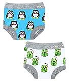 Ez Undeez Bambini WC Formazione Pantaloni con Fodera Imbottita per Ragazzi e Ragazze, Pinguino, Rana (3T, Penguin-Frog)
