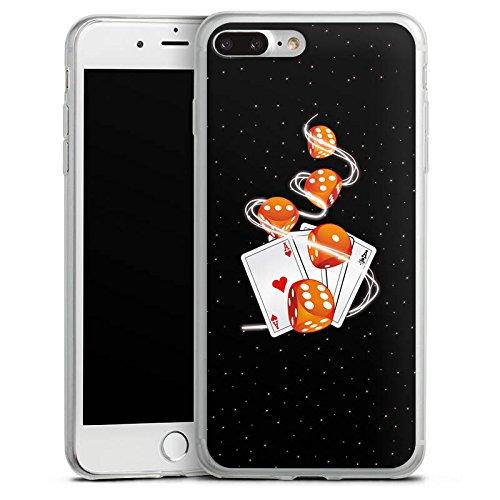 Apple iPhone X Slim Case Silikon Hülle Schutzhülle Würfel Herz Karten Silikon Slim Case transparent