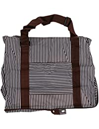 Generic Striped Foldable Handbag Shoulder Bags Shopping Travel Bags
