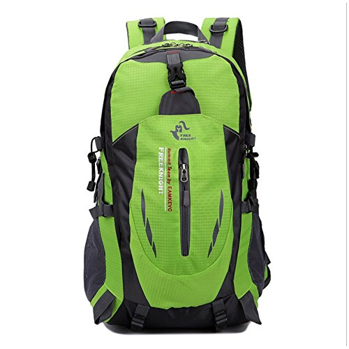 Freizeit Outdoor Klettern Männer und Frauen Farbe Schultern Sport Rucksack Kapazität 35L Green