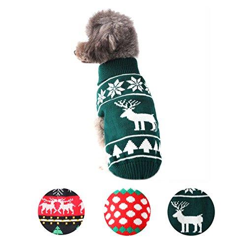 per Hund Knit Pullover Mantel Schneeflocke Weihnachten Rentier Welpen warmen Haustier Kleidung (Hund In Einem Hot-dog-kostüm)