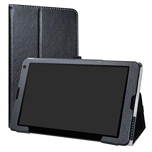 LiuShan Medion Lifetab E10513 E10511 E10411 hülle, Folding PU Leder Tasche Hülle Case mit Ständer für 10.1