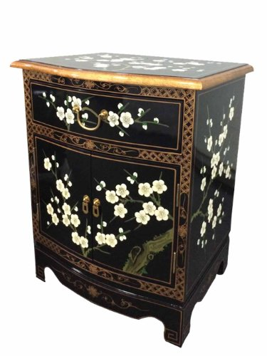 China Warehouse Direct Chinese Oriental Furniture - Blossom Bedside Cabinet/ Lamp Table