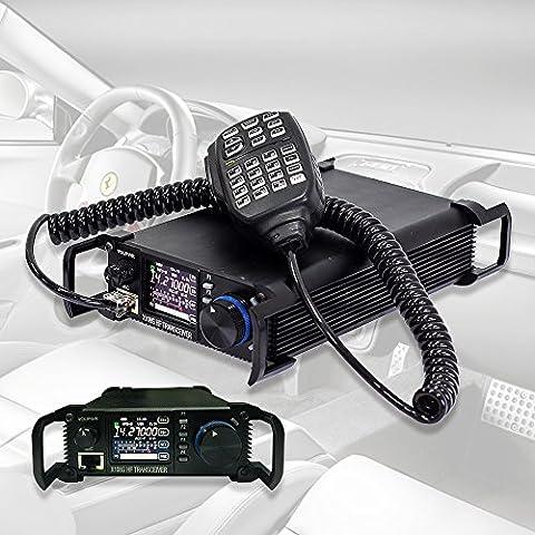 Xiegu X-108G 20W CB HF Amateur Ham Mobile Transceiver Car Radio, QRP, SSB-CW, X108's Upgraded Version, for Outdoor, Black
