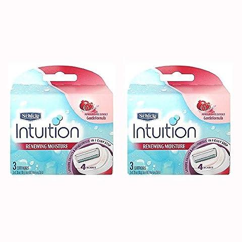 Schick Intuition Renewing Moisture Womens Razor Refill Cartridges, 6 count